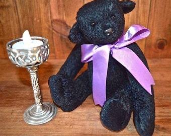 JET,  a stunning 9inch OOAK mohair bear