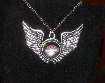 Large Biker Wings with 3 Interchangeable Charms