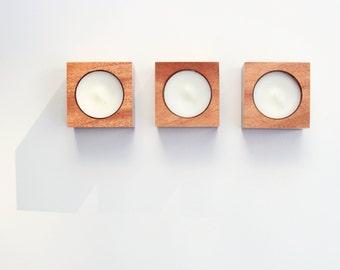 tealight candleholder [mahogany]