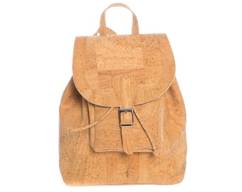 Backpack made from natural cork.