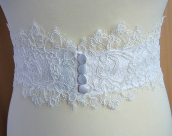 bridal belt lace ivory