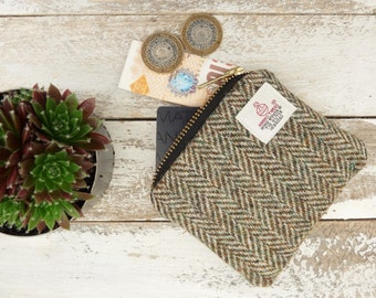 Harris Tweed Coin Purse , Scottish Gift, Change purse, gadget bag, Gifts for Men, Plaid Purse, Tartan Pouch, Outlander