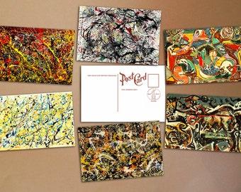 Jackson Pollock Set of 6 collectible postcards