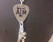 Guitar pick charm necklace
