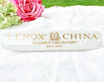 Lenox China Classics Collection Advertising Sign: Lenox Store Plaque, Lenox China Display, Lenox Store Display