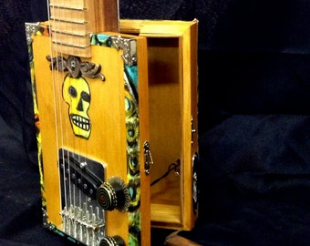 Cigar Box Guitar - Sugar Skull