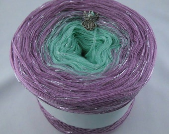 """Color gradient yarn 200 g = 760 m lacegarn """"lucky charm"""""""