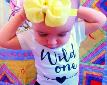 First Birthday girl onesie/Wild One Birthday onesie/ baby girl birthday