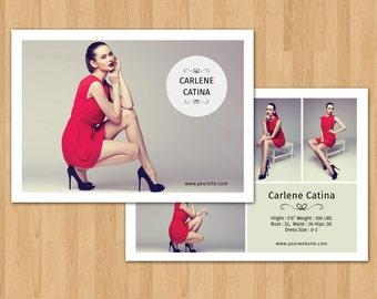 fashion model comp card template modeling comp card photoshop