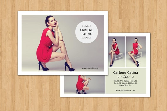 free model comp card template psd - fashion model comp card template modeling comp card