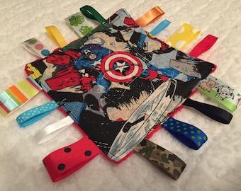 Captain America Baby Sensory Crinkle Toy