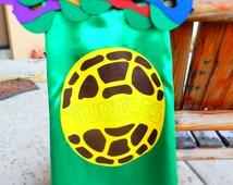 TMNT Cape - Teenage Mutant Ninja Turtle Party Favors,Superhero Capes,Super Hero Capes,Super Hero Party.