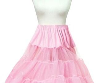 Elizabeth Stone Pastel Pink 50's Rockabilly Crinoline Underskirt Petticoat 26 Inch 2 Layers