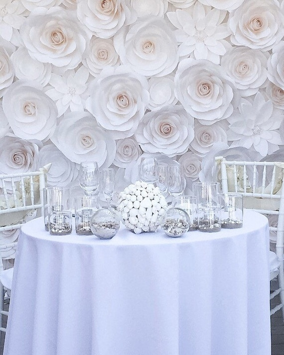Luxury Paper Flowers Large Paper Flowers Wedding Backdrop