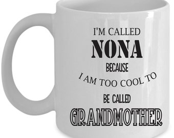 Grandmother Coffee Mug Perfect Gift for Your Dad, Mom, Boyfriend, Girlfriend, or Friend - Proudly Made in the USA!