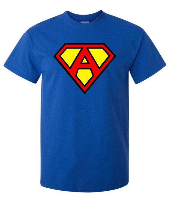 Superman t shirt personalized for Make your own superman shirt
