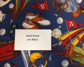 Golf Theme on Blue - 2 Yards