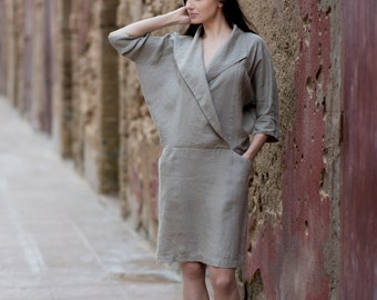 Linen Dress Motumo - 16S13
