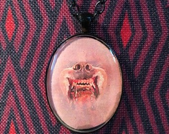 Stephen King CUJO Resin Pendant Necklace Rabid Dog Horror