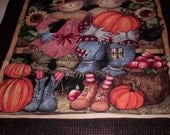 1 panel Harvest Couple Door Scene by Susan Winget Springs Creative Fabrics with extra pieces for 3-D look