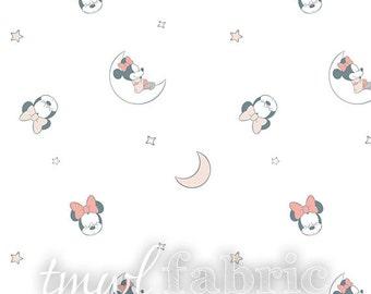 Woven Fabric - Disney Bambino Sleeping Minnie Mouse - Fat Quarter Yard +