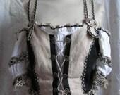 Stunning Tyrolean dirndl blouse! Austrian folklore vintage sexy fancydress costume size 42 M/L UK14 US12