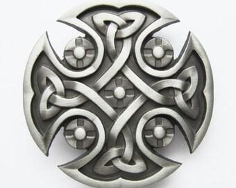 Original Celtic Keltic Iron Cross Belt Buckle