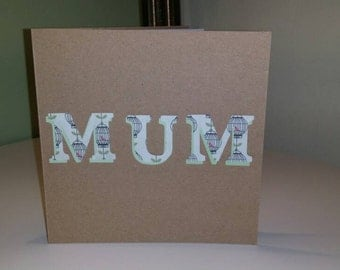 Cutout Mum card is perfect for birthday or Mothers day.