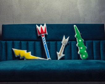 Pillow Fight Weapons, Shaped pillow, Fantasy Toys, Kids, Mythology, Greek Gods, Olympic, Zeus, Jupiter, Hercules, Eros, Poseidon, Neptune
