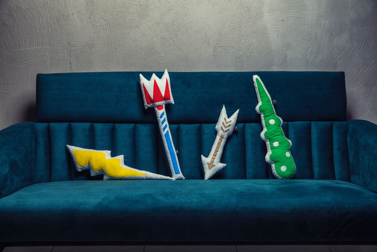 pillow fight weapons shaped pillow fantasy toys kids mythology