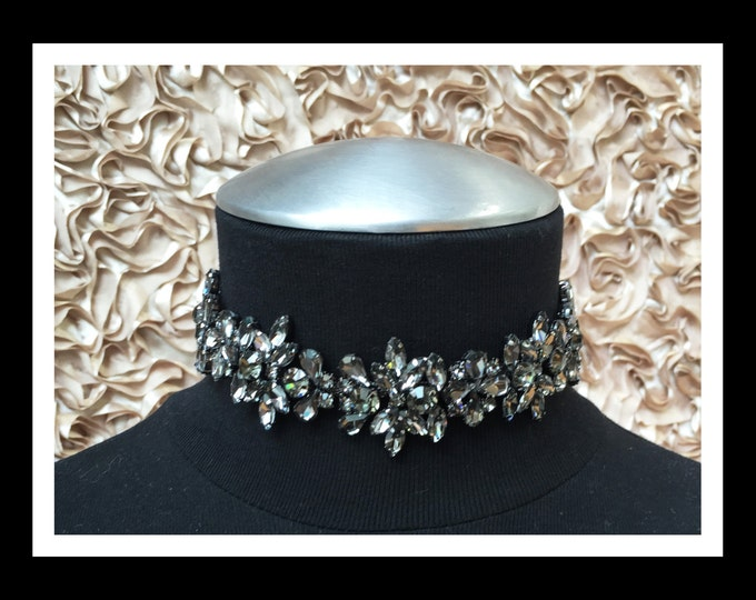 Black Diamond Rhinestone Choker #C104