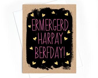 Card // Birthday // Ermergerd