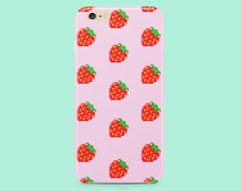 Strawberry iphone 6 case, iPhone 5 case, iphone 5c case, iPhone 6s case, iPhone 6 Plus case, iPhone 6s plus case, iPhone 5s case, cute, girl