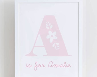 Personalised Alphabet Letter Print
