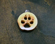Dog Paw-Print Necklace made from Maple - hand cut with scroll saw - FREE SHIPPING