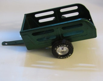 Toy Nylint Metal Muscle Pressed Steel Green Utility Trailer
