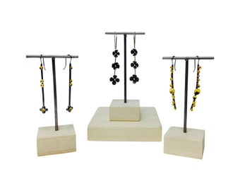 Set of three earring displays, earring stand, craft show display, store display E101