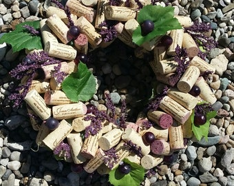 Grape Wine Cork Wreath 6-8""