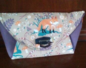 Clutch Bag, Fox Print
