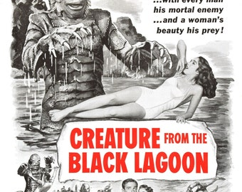 Creature from the Black Lagoon 1954 Adventure/Horror Movie POSTER