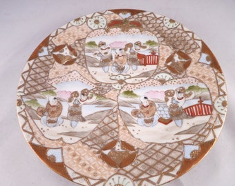 Vintage Nippon Plate Japanese Moriage Dish Made in Japan