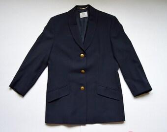 Classic Viyella Womens Blazer Longsleeves Button down Womens jacket Ladies Blazer Golden Buttons
