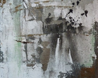 Original painting, Restless heart I, mixed media painting, 30x30cm, acryllic painting, bronze painting white, Black, modern painting