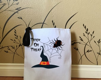 Trick or Treat Bag with Witch Hat, Kids Tote Bags, Cute Halloween Bags, Halloween Tote Bags for Trick or Treat