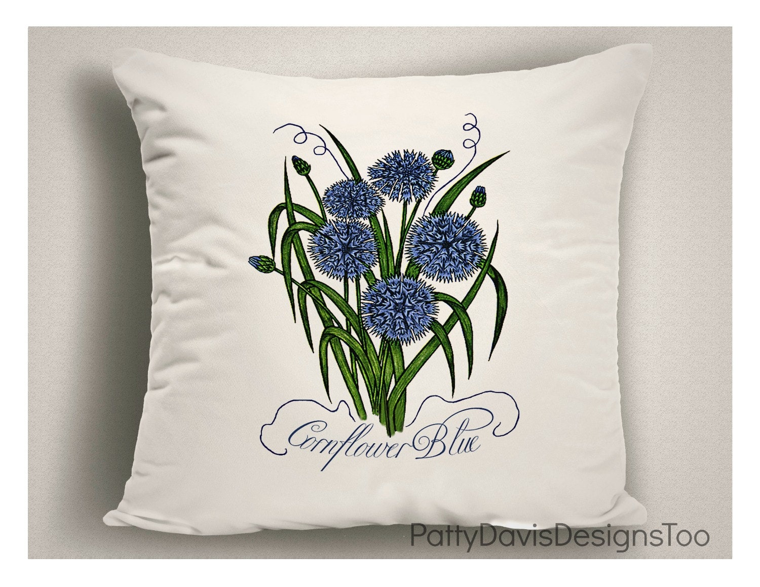 Throw Pillow Covers Made In Usa : Corn Flower Blue, Spring Pillows, Throw Pillows, Decorative Pillow, Spring Decor, Pillow Covers ...
