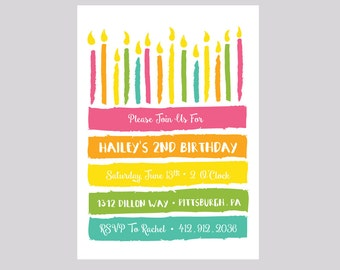 Birthday Cake Printable DIY Birthday Party Invitation