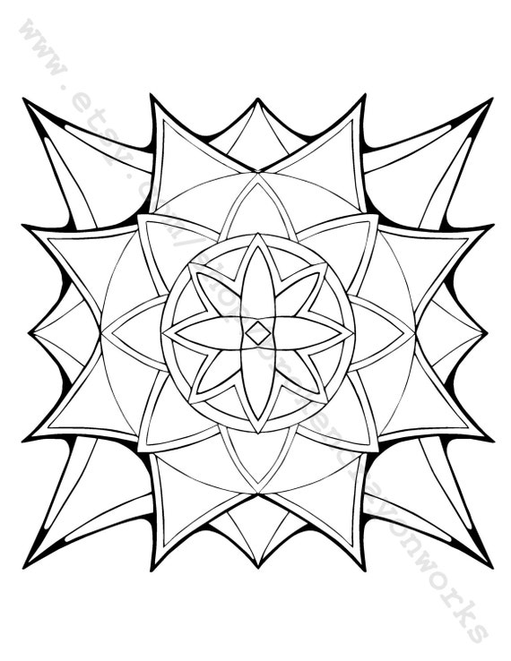 starburst coloring pages - photo#4