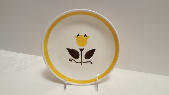Stangl New Yellow Tulip 6'' Plate #5325