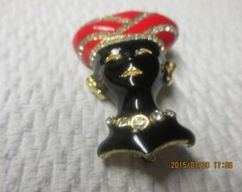 Vintage blackamoor pin