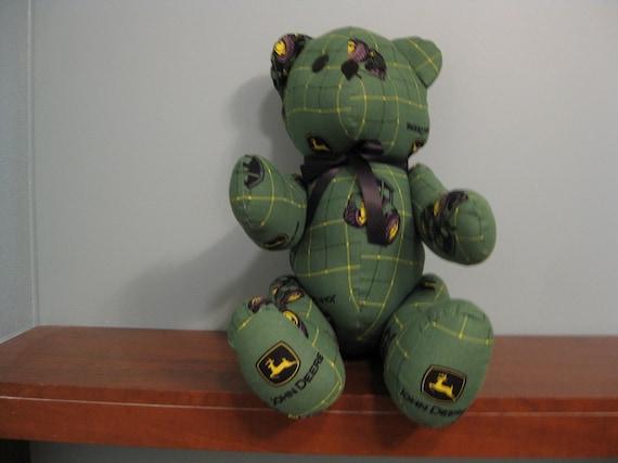 John Deere Teddy Bears : John deere bear green plaid stuffed novelty souvenir